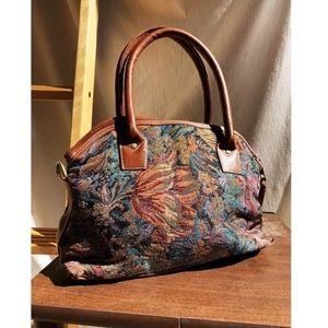 Gorgeous Vintage Tapestry Mini Bag